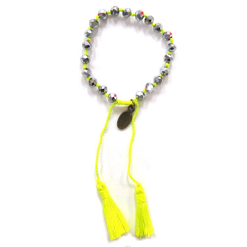 Zacasha's Bohemian Chic Crystals and Tassels Bracelet 10