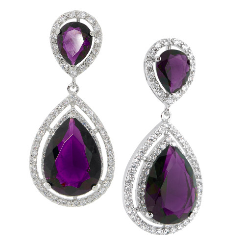 The Angelina Amethyst Tear Drop Earrings
