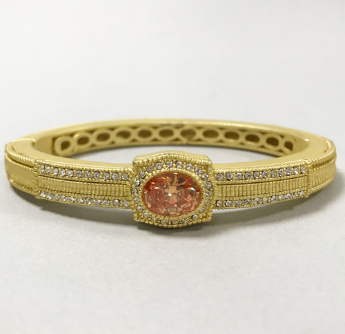 Crown Jewel Topaz Bangle