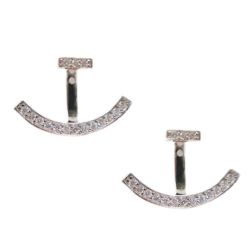 Sterling C.Z. Peek-A-Boo Earring