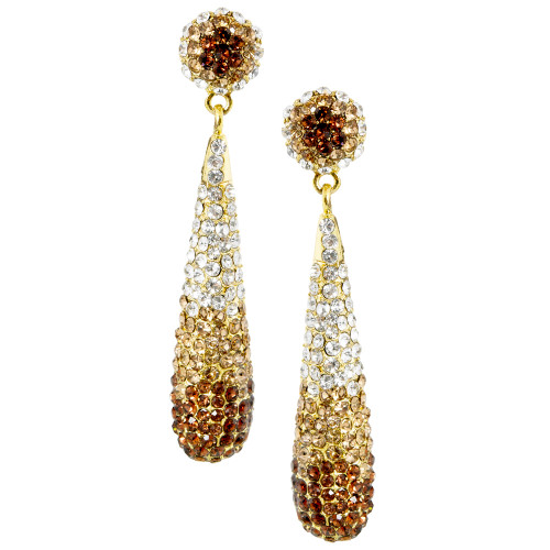 Pave Teardrop Earring Gold