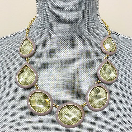 Outlined in Gray Bauble Necklace