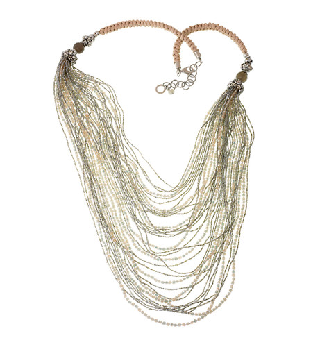 Multi-Strand Bead and Rope Bib Necklace
