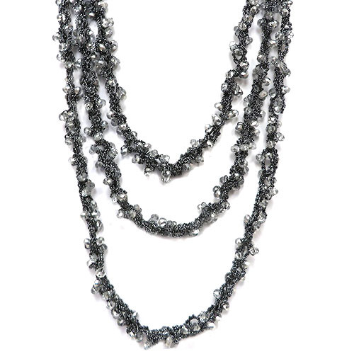 Crochet and Crystal Triple Strand