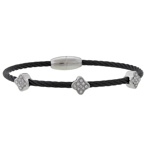 Twisted Black Steel Bracelet