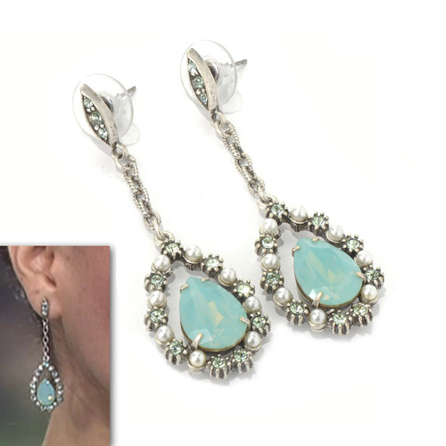 Marie Antoinette Pacific Opal Drop Earrings