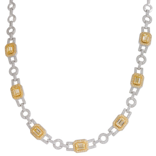 Lafonn's Canary Emerald Cut Lassaire Gemstone Necklace