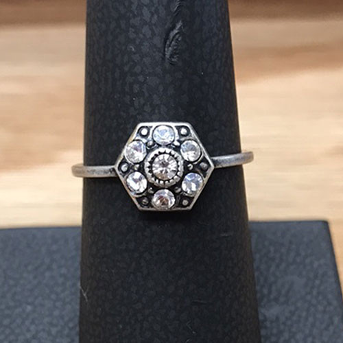 Hexagon Shaped Ring