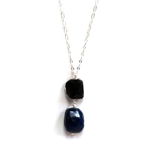 Black Onyx and Lapis Necklace