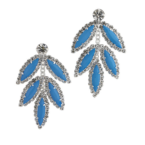 Five Leaf Earring Blue