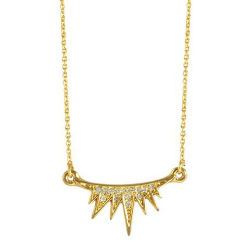 C.C. Skye Eyelash Necklace in Gold