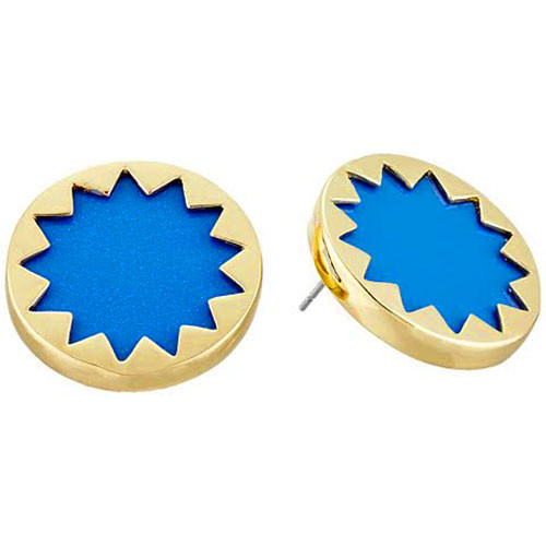 House of Harlow Enamel Blue Sunburst Earrings