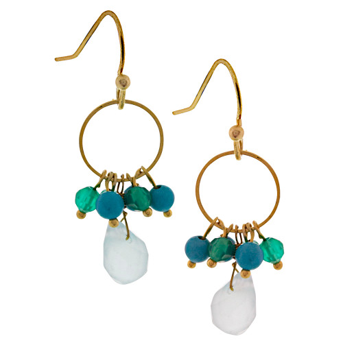 Mediterranean Crystal Color Earrings