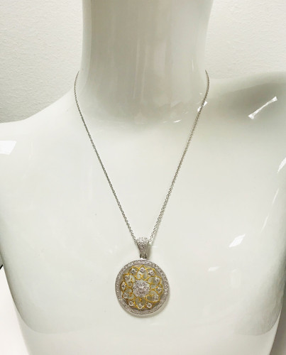 Points of Light Medallion Necklace