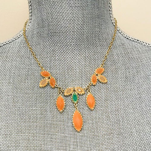 Peach Pendant Necklace