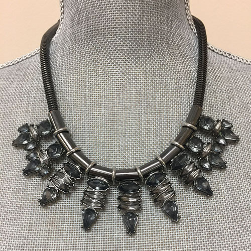 Hematite Spiked Necklace