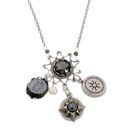 Medieval Gray Charm Necklace