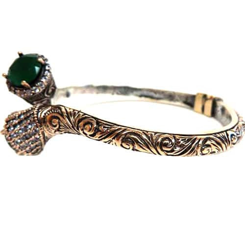 Ottoman Empire Hinged Bottom Bracelet