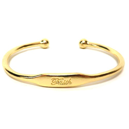Stamped Faith Bracelet Gold