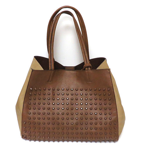 Studded Tote-Brown
