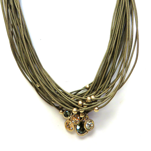 Multi-Stone, Multi-Strand Necklace BR