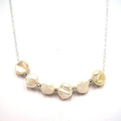 Chunky Freshwater Pearl Bar Necklace