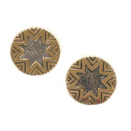 House Of Harlow Engraved Sunburst Studs G/S
