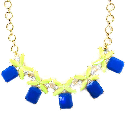 Five Kisses Necklace Blue