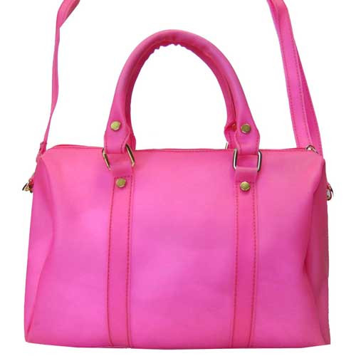 "Bright Pink ""Jelly"" Satchel"