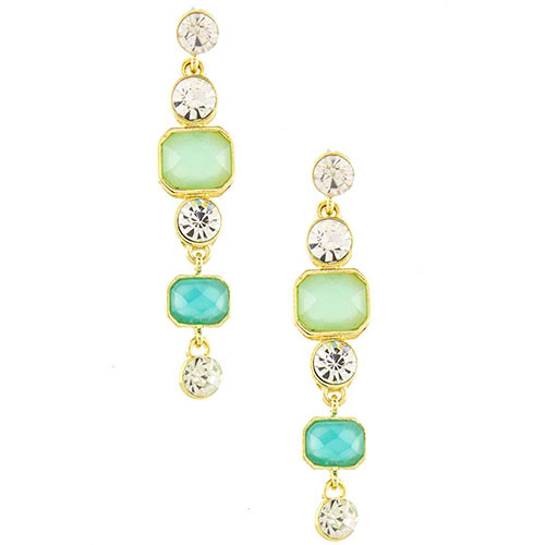 Opaque Mint Drop Earrings