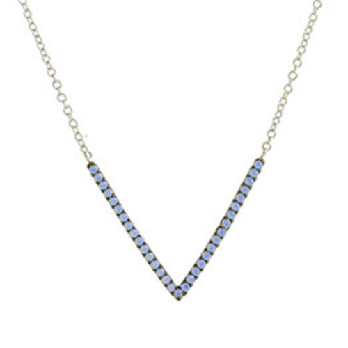 Blue Opal Crystal V-Necklace