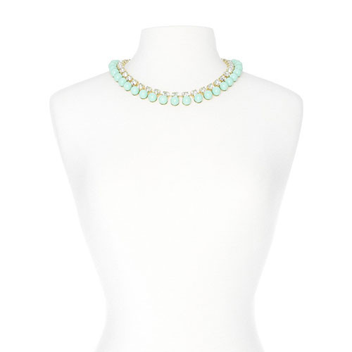 Mint Bubbles and Baubles Necklace