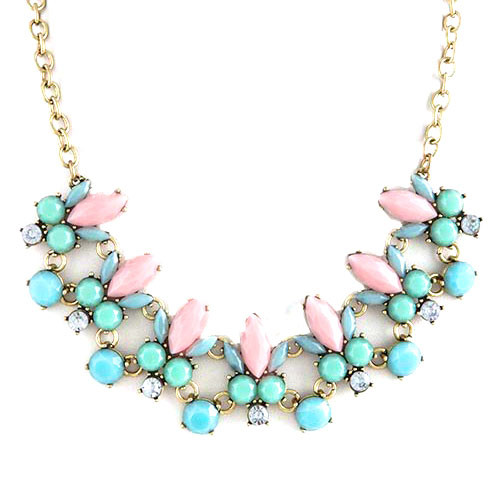 Soft Pastel Gems Necklace