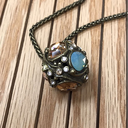 Jeweled Crystal Ball Necklace 1