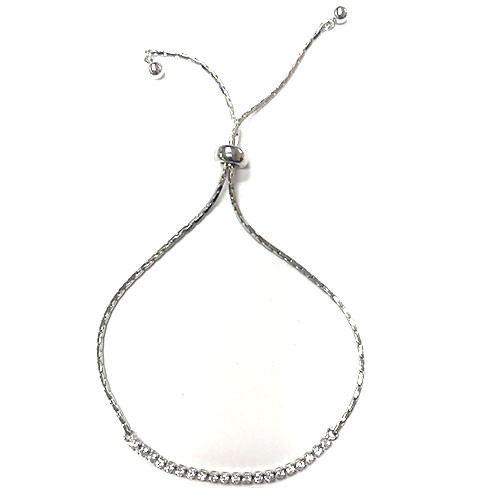 Simple Rhinestone Pull Chain Bracelet