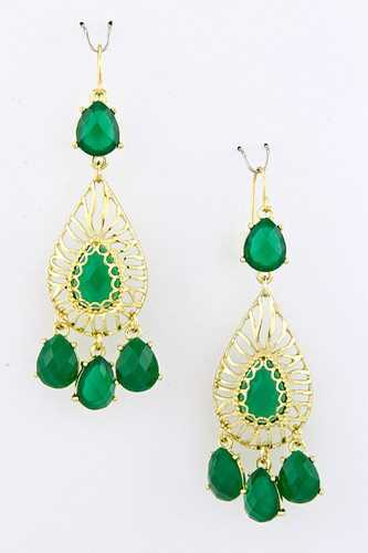 Emerald Jewel Exotica Earring