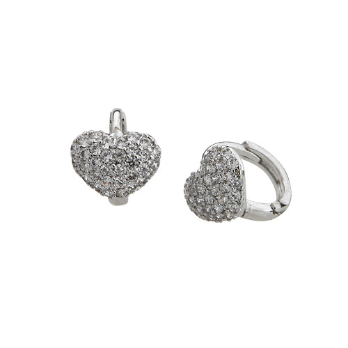 The Christina Heart Earring