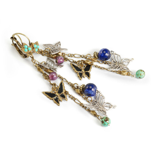 Multi-Chain Butterfly Dangle Earring