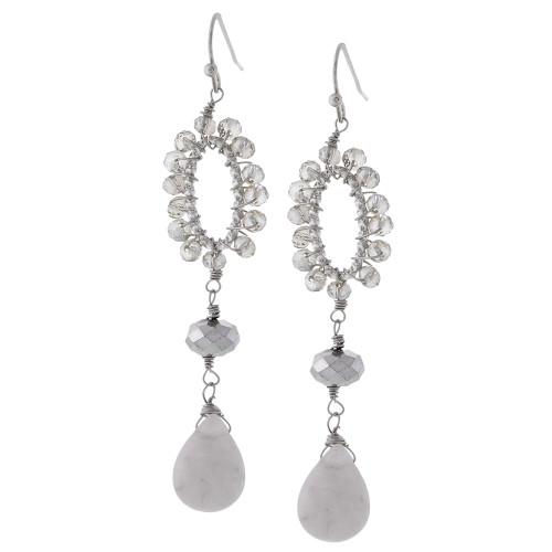 Shades of Gray Dangle Earring