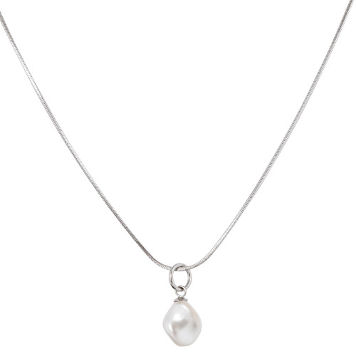 Single Pear Drop Charm Necklace
