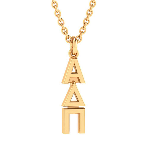 Alpha Delta Pi Gold Original Lavalier Necklace