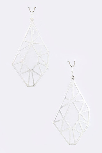 Laser Cut Modern Geometric Earrings