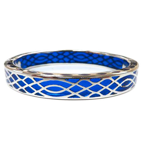 AHC's Blue and Silver Infinity Bangle
