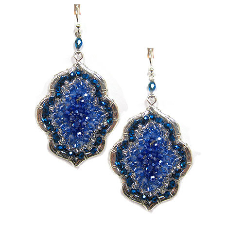 Majestic Blues Exotic Shimmer Earring