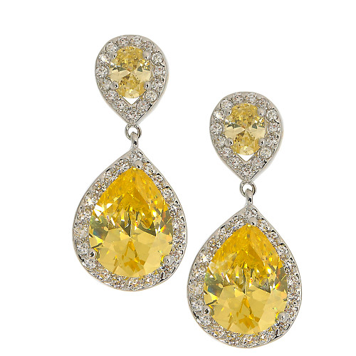 Pear Shaped Canary Drop Earring