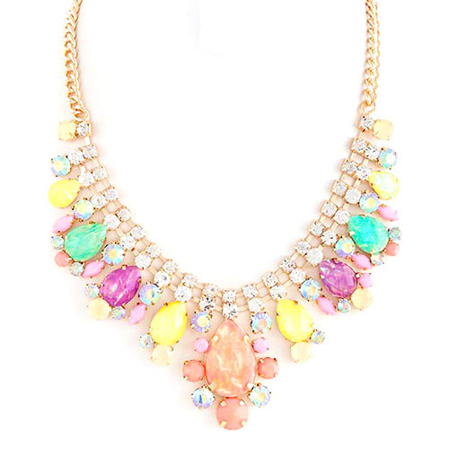 Pastel Iridescent Bauble Necklace