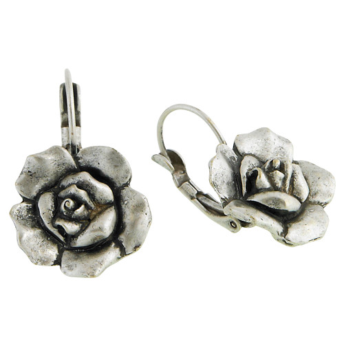 Antiqued Silver Rose Euro Wire