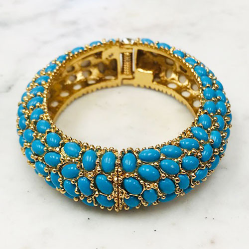Turquoise Stone Bangle
