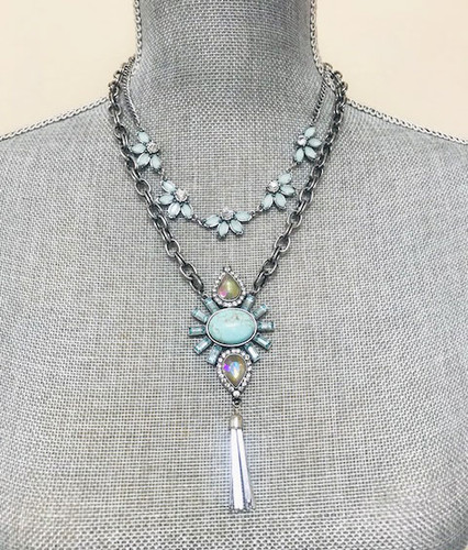 Modern Deco Double Layered Necklaces TQ