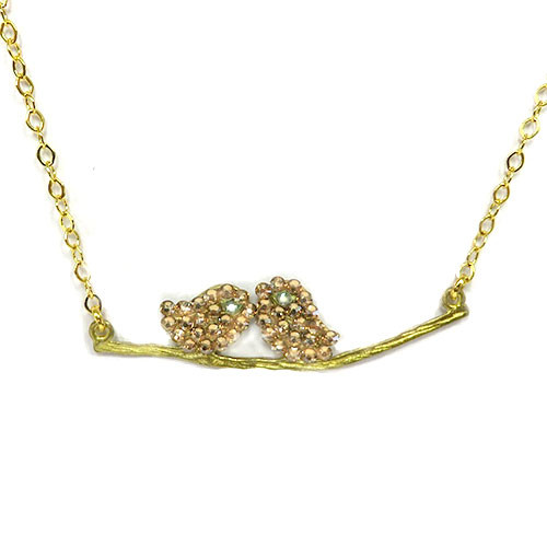Lil' Lovebirds Necklace Gold